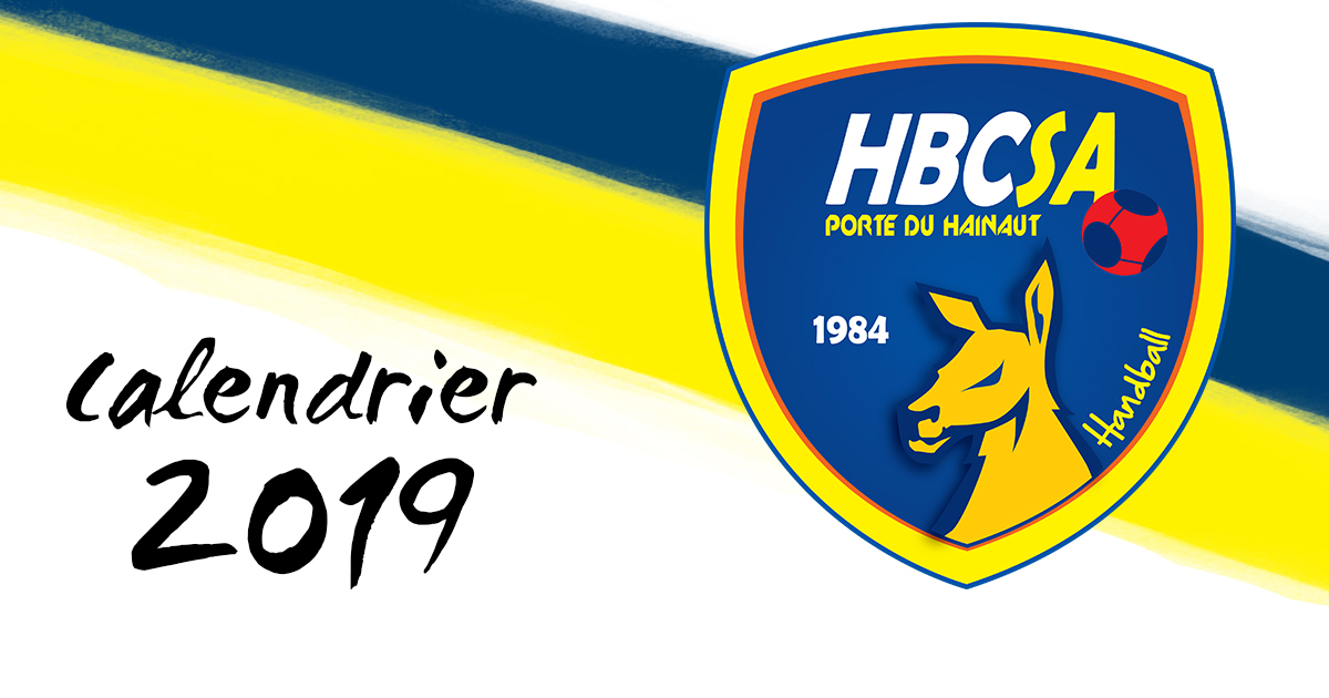 Réservez-vite les calendriers 2019 du HBCSA-PH !