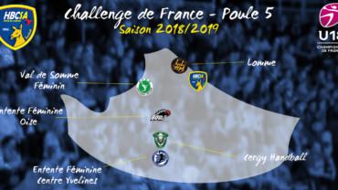 La poule des U18F pour le Challenge de France !
