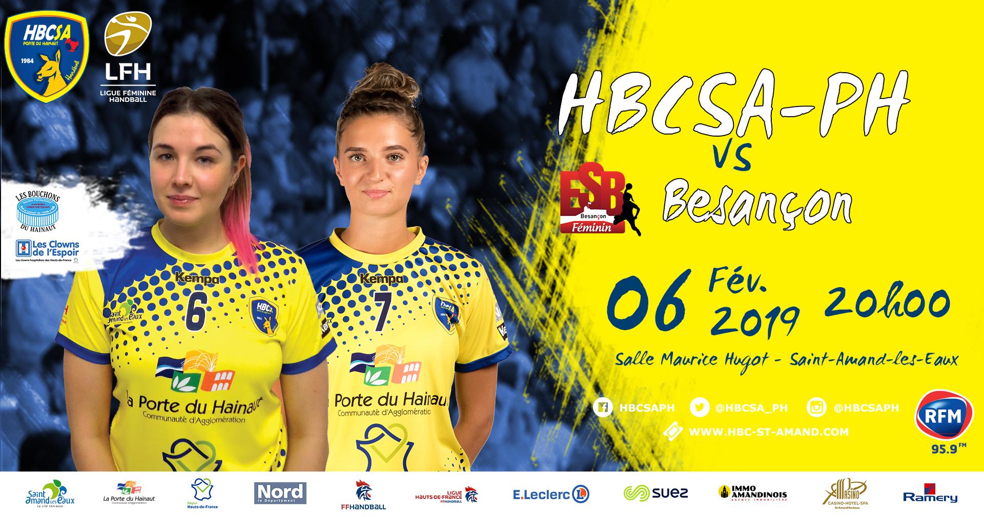 """""""HBCSA-PH vs Besançon"""" soutient deux associations !"""