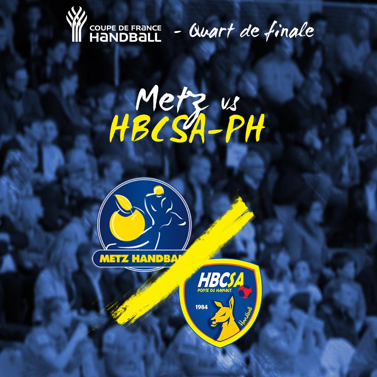 Le HBCSA-PH rencontrera Metz en ¼ de finale de la Coupe de France !