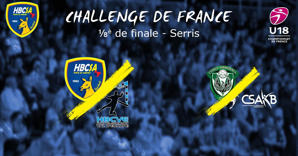 Le tirage des ⅛ et ¼ de finale du Challenge de France