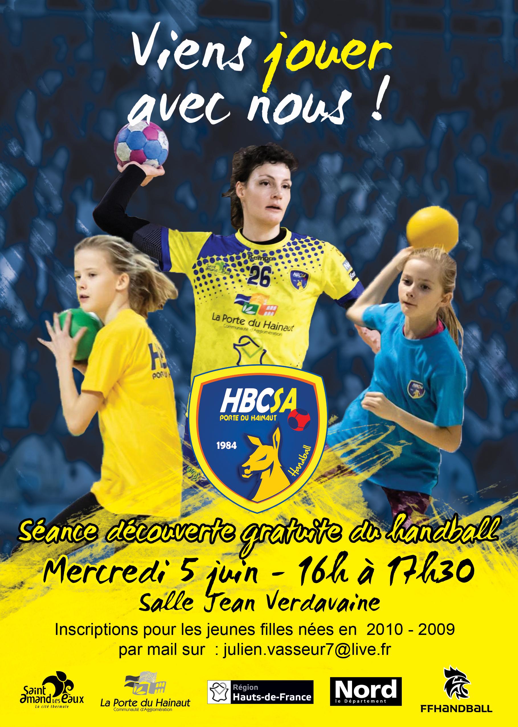 Journée découverte du handball féminin le 5 juin