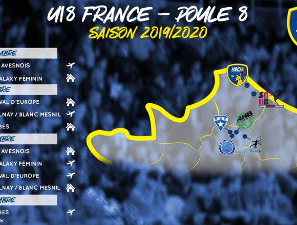 L'équipe U18 dans la poule 8 du Championnat de France !