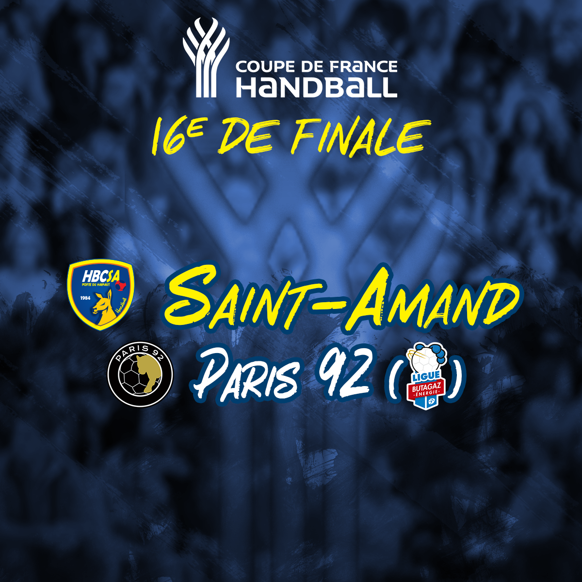 Paris 92 pour le Saint-Amand Handball !