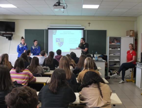Interventions des handballeuses de Saint-Amand à NDA