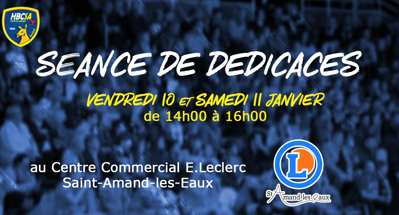 Séance de dédicaces au E.Leclerc de Saint-Amand-les-Eaux