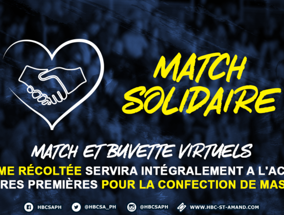 Le Saint-Amand Handball lance une action solidaire pour la lutte contre le COVID-19 !