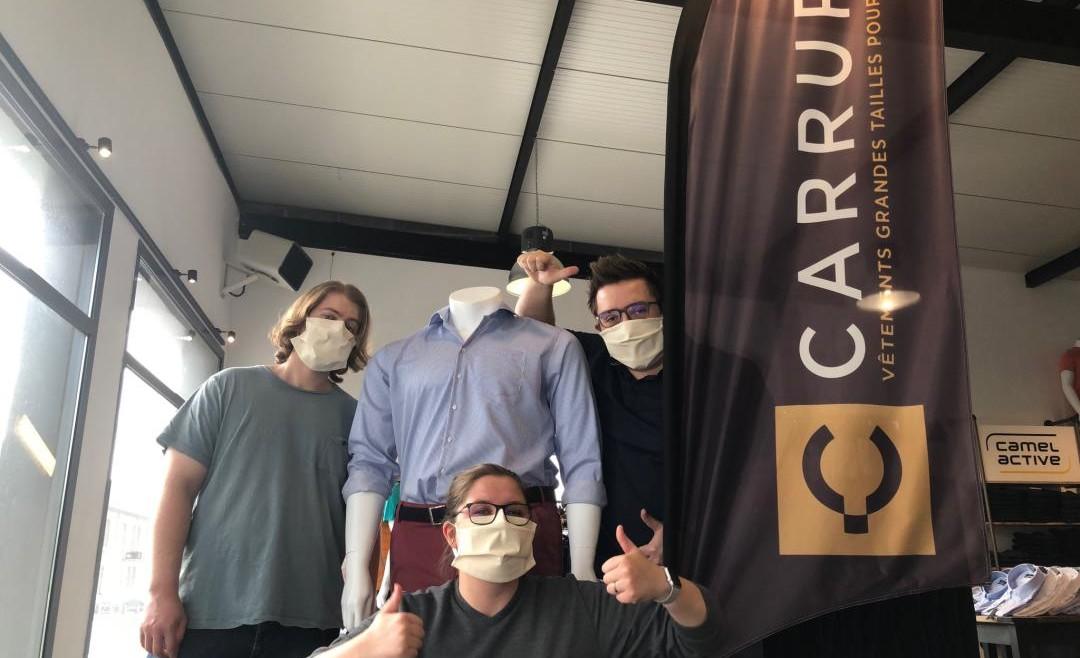 Des masques pour des entreprises locales !